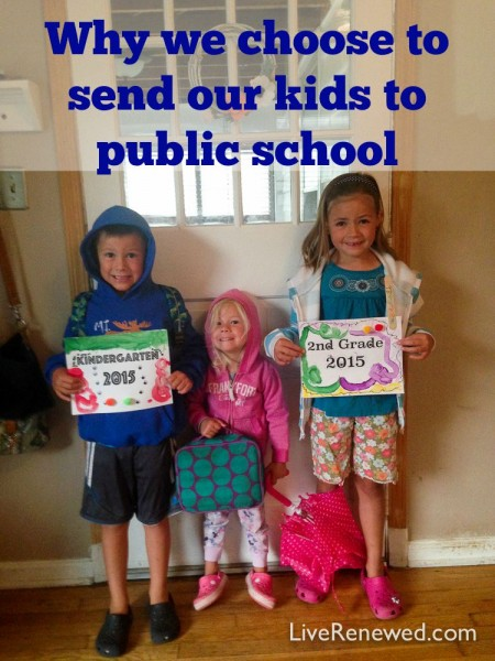 Are you struggling with community or family expectations about how to educate your kids? Here's our family's reasons for sending our kids to public school, hopefully they will be an encouragement to you!