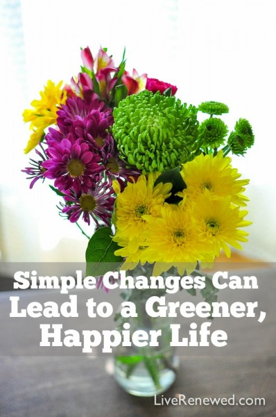 Did you know that adopting simple, renewable lifestyle behaviors can actually make us happier while also saving the earth's resources? Simple Changes Can Lead to a Greener, Happier Life!